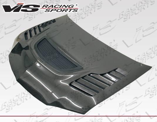 VIS Racing - Carbon Fiber Hood Tracer Style for Mitsubishi EVO 9 4DR 06-07