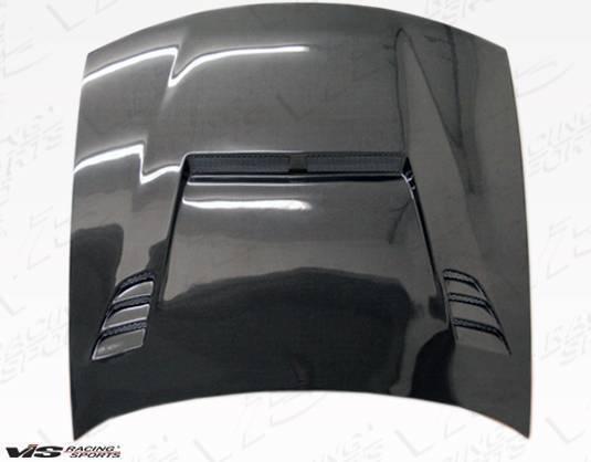 VIS Racing - Carbon Fiber Hood JS 2 Style for Nissan 240SX 2DR 97-98