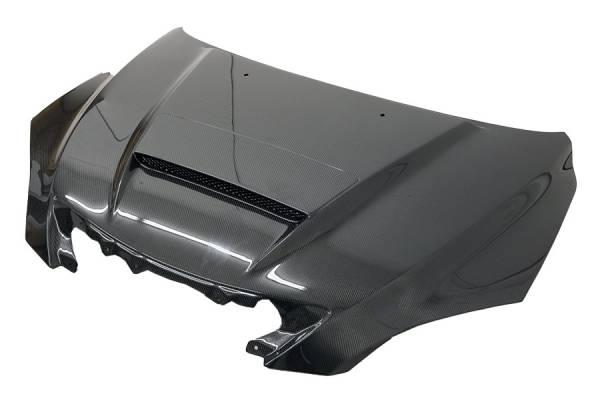 VIS Racing - Carbon Fiber Hood Mazda Speed Style for Mazda 3 Hatchback 04-09