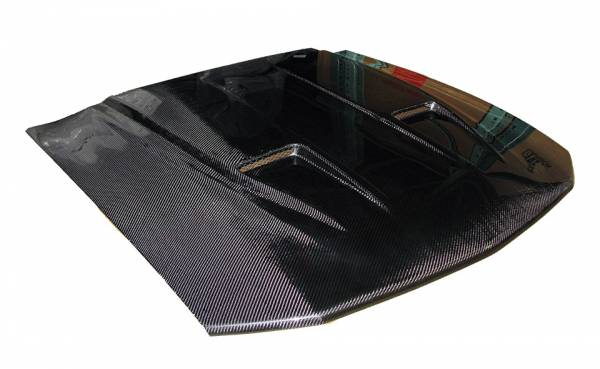 VIS Racing - Carbon Fiber Hood Mach 2 Style for Ford MUSTANG 2DR 05-09