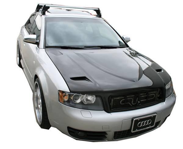 VIS Racing - Carbon Fiber Hood Euro R Style for AUDI S4 4DR 98-02