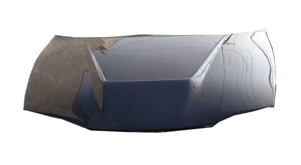 VIS Racing - Carbon Fiber Hood Invader Style for Mitsubishi Eclipse 2DR 95-99