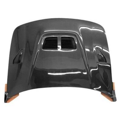 VIS Racing - Carbon Fiber Hood EVO  Style for Acura Integra 2DR & 4DR 90-93 - Image 1