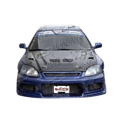 VIS Racing - Carbon Fiber Hood EVO  Style for Acura Integra 2DR & 4DR 90-93 - Image 2
