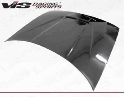VIS Racing - Carbon Fiber Hood JS Style for Acura Integra 2DR & 4DR 90-93 - Image 2