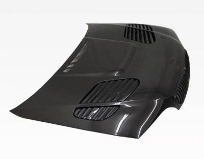 VIS Racing - Carbon Fiber Hood GTR Style for BMW 3 SERIES(E46) 2DR 04-05 - Image 1