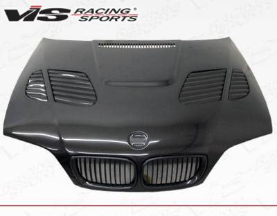 VIS Racing - Carbon Fiber Hood GTR Style for BMW 3 SERIES(E46) 4DR 99-01 - Image 1