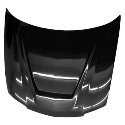 VIS Racing - Carbon Fiber Hood Invader Style for Chevrolet Cavalier 2DR & 4DR 03-05 - Image 1