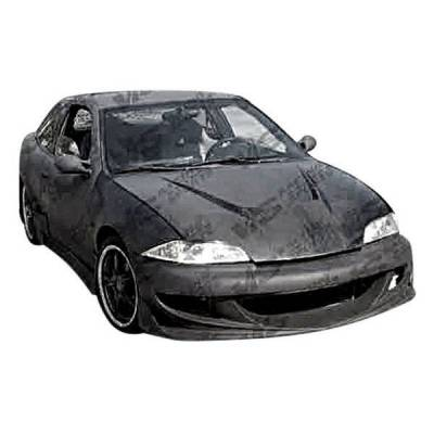 VIS Racing - Carbon Fiber Hood Invader Style for Chevrolet Cavalier 2DR & 4DR 03-05 - Image 2