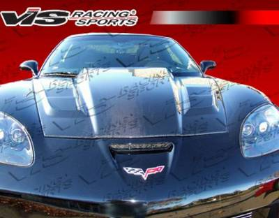 VIS Racing - Carbon Fiber Hood SCV Style for Chevrolet Corvette 2DR 05-13 - Image 2
