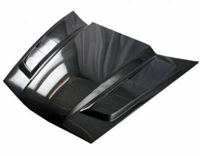 VIS Racing - Carbon Fiber Hood SCV Style for Chevrolet Corvette 2DR 05-13 - Image 3