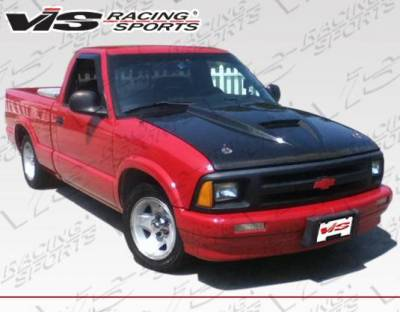 VIS Racing - Carbon Fiber Hood Ram Air Style for Chevrolet S10 2DR 94-04 - Image 1