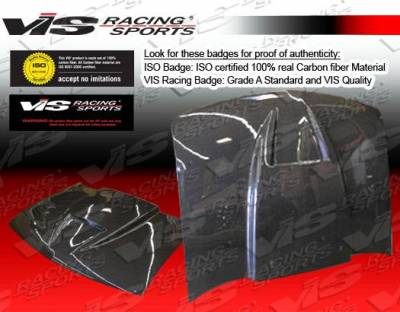 VIS Racing - Carbon Fiber Hood Ram Air Style for Chevrolet S10 2DR 94-04 - Image 3