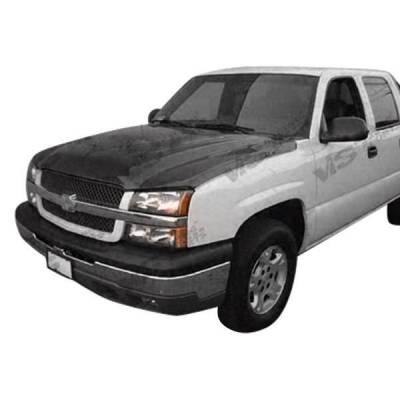 VIS Racing - Carbon Fiber Hood OEM Style for Chevrolet Silverado 4DR HD 03-06 - Image 2