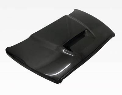 VIS Racing - Carbon Fiber Hood SRT  Style for Dodge Ram 2DR & 4DR 02-08 - Image 2