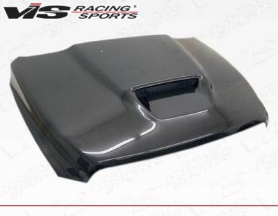 VIS Racing - Carbon Fiber Hood SRT  Style for Dodge Ram 1500 2DR & 4DR 2009-2018 - Image 1