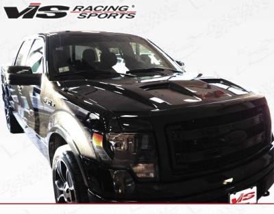 VIS Racing - Carbon Fiber Hood DS Style for Ford F150 2DR & 4DR 09-14 - Image 4