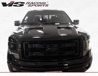VIS Racing - Carbon Fiber Hood DS Style for Ford F150 2DR & 4DR 09-14 - Image 5