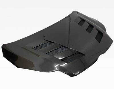 VIS Racing - Carbon Fiber Hood AMS Style for Ford Focus 2DR & 4DR 12-14 - Image 2