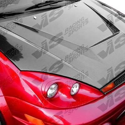 VIS Racing - Carbon Fiber Hood Invader Style for Ford Focus 2DR & 4DR 00-04 - Image 2