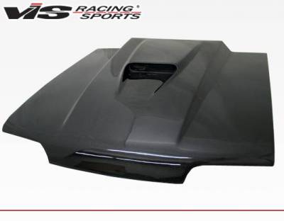 VIS Racing - Carbon Fiber Hood SS Style for Ford MUSTANG 2DR 87-93 - Image 1