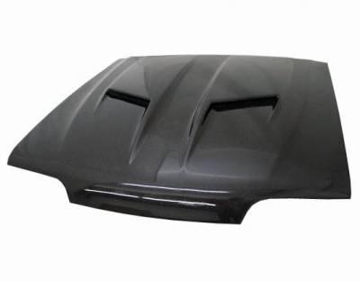 VIS Racing - Carbon Fiber Hood Stalker 2 Style for Ford MUSTANG 2DR 87-93 - Image 1