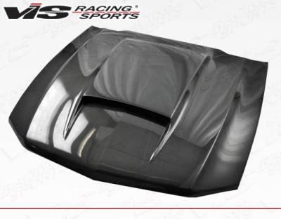 VIS Racing - Carbon Fiber Hood Stalker Style for Ford MUSTANG 2DR 10-12 - Image 1