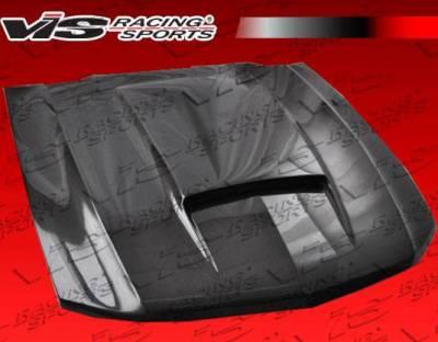 VIS Racing - Carbon Fiber Hood Stalker Style for Ford MUSTANG 2DR 10-12 - Image 2