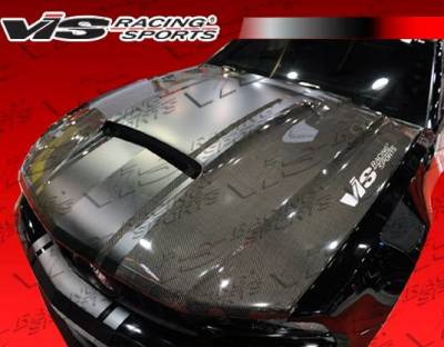 VIS Racing - Carbon Fiber Hood Stalker Style for Ford MUSTANG 2DR 10-12 - Image 6