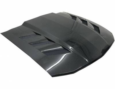 VIS Racing - Carbon Fiber Hood AMS Style for Ford MUSTANG 2DR 05-09 - Image 2
