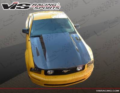 VIS Racing - Carbon Fiber Hood Cowl Induction Style for Ford MUSTANG 2DR 05-09 - Image 3