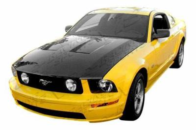 VIS Racing - Carbon Fiber Hood OEM Style for Ford MUSTANG 2DR 05-09 - Image 2