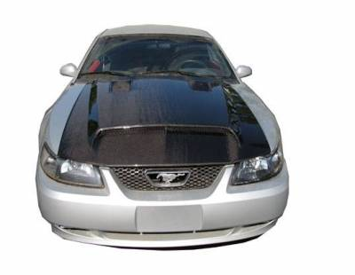 VIS Racing - Carbon Fiber Hood GT 500 Style for Ford MUSTANG 2DR 99-04 - Image 1