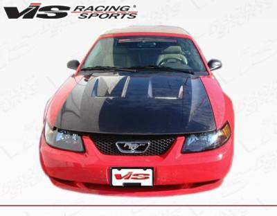 VIS Racing - Carbon Fiber Hood Heat Extractor Style for Ford MUSTANG 2DR 99-04 - Image 3
