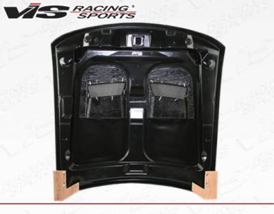 VIS Racing - Carbon Fiber Hood Heat Extractor Style for Ford MUSTANG 2DR 99-04 - Image 4