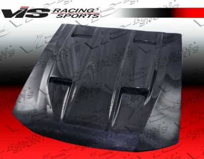 VIS Racing - Carbon Fiber Hood Mach 5 Style for Ford MUSTANG 2DR 99-04 - Image 2