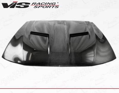 VIS Racing - Carbon Fiber Hood Stalker 2 Style for Ford MUSTANG 2DR 99-04 - Image 3