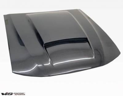 VIS Racing - Carbon Fiber Hood Stalker X Style for Ford MUSTANG 2DR 99-04 - Image 2