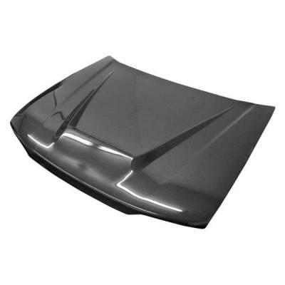 VIS Racing - Carbon Fiber Hood Invader Style for Honda Accord 2DR & 4DR 90-93 - Image 1