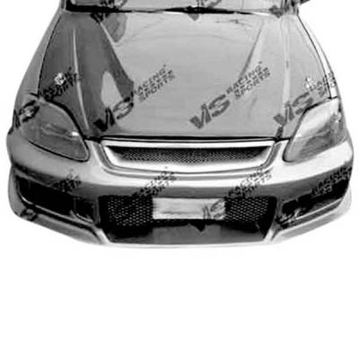 VIS Racing - Carbon Fiber Hood Invader Style for Honda Accord 2DR & 4DR 90-93 - Image 2