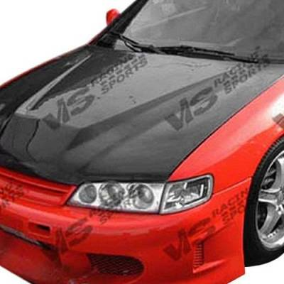 VIS Racing - Carbon Fiber Hood Invader Style for Honda Accord (4cyl) 2DR & 4DR 94-97 - Image 2