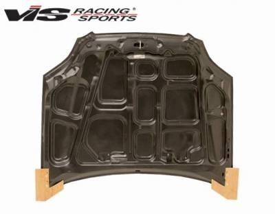 VIS Racing - Carbon Fiber Hood OEM Style for Honda Civic 2DR & 4DR 96-98 - Image 3