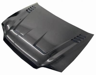 VIS Racing - Carbon Fiber Hood Cyber Style for Honda Civic 2DR 92-95 - Image 2