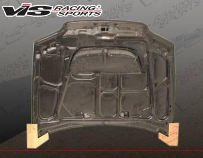 VIS Racing - Carbon Fiber Hood Monster Style for Honda Civic 2DR 92-95 - Image 3