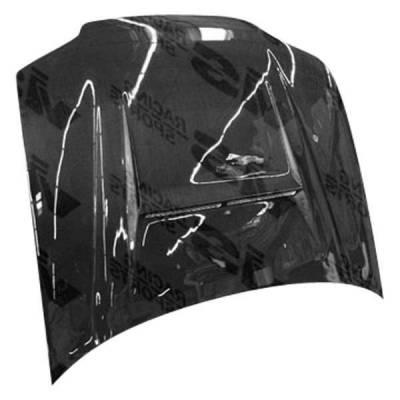 VIS Racing - Carbon Fiber Hood N 1 Style for Honda Civic 2DR 92-95 - Image 1