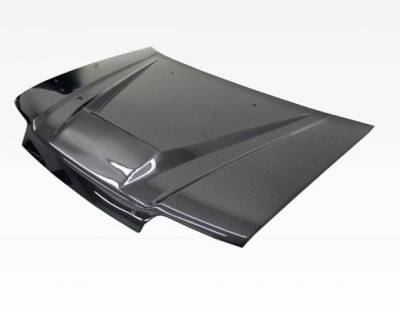 VIS Racing - Carbon Fiber Hood Invader Style for Honda Civic 4DR 88-91 - Image 2