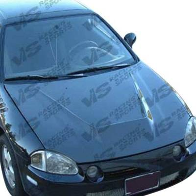 VIS Racing - Carbon Fiber Hood Invader Style for Honda Civic Hatchback 88-91 - Image 3
