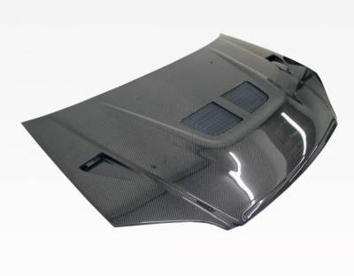 VIS Racing - Carbon Fiber Hood EVO  Style for Honda Civic 2DR & 4DR 01-03 - Image 1
