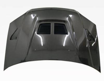 VIS Racing - Carbon Fiber Hood EVO  Style for Honda Civic 2DR & 4DR 01-03 - Image 2