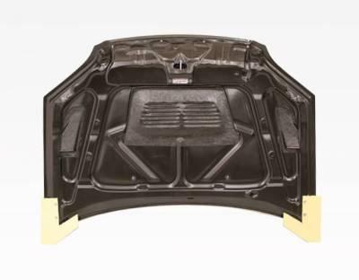 VIS Racing - Carbon Fiber Hood EVO  Style for Honda Civic 2DR & 4DR 01-03 - Image 3